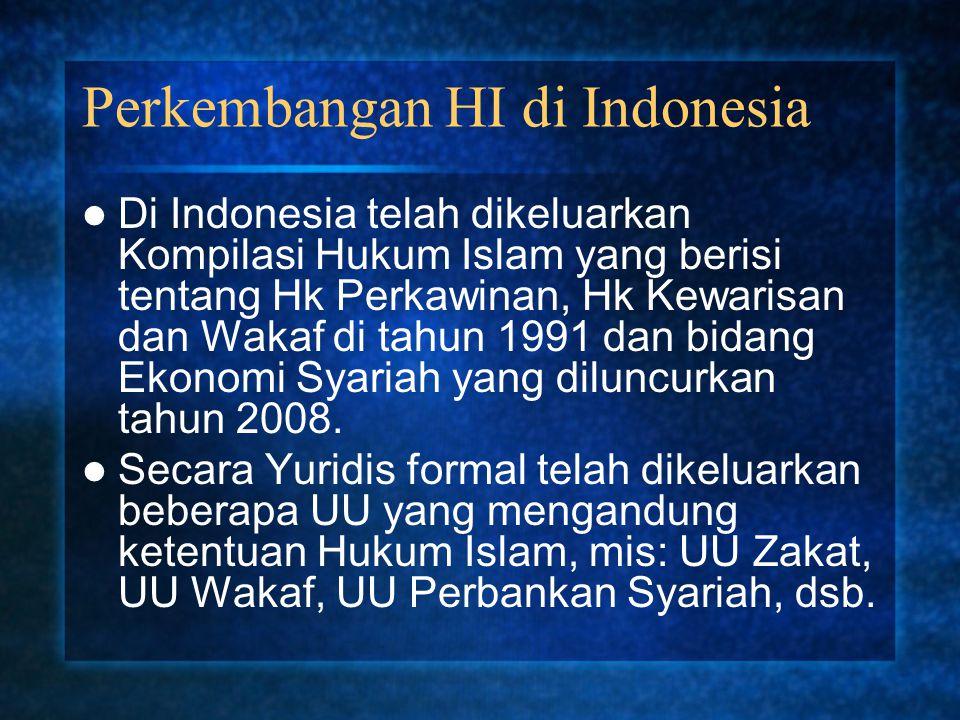 Perkembangan HI di Indonesia