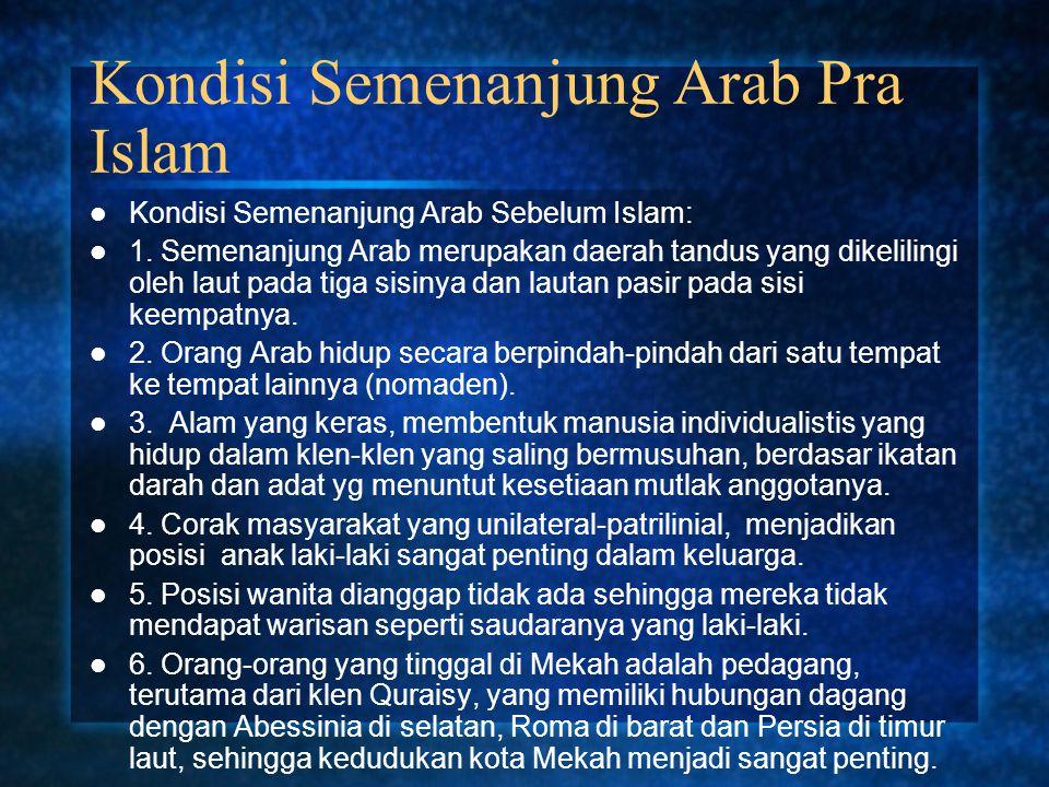 Kondisi Semenanjung Arab Pra Islam