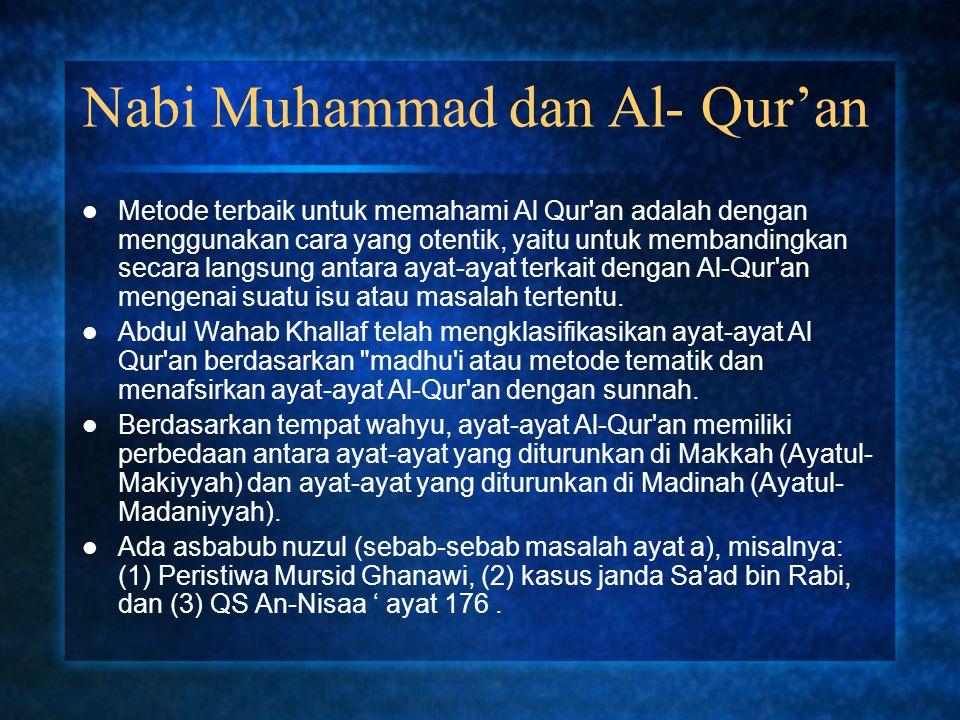 Nabi Muhammad dan Al- Qur'an