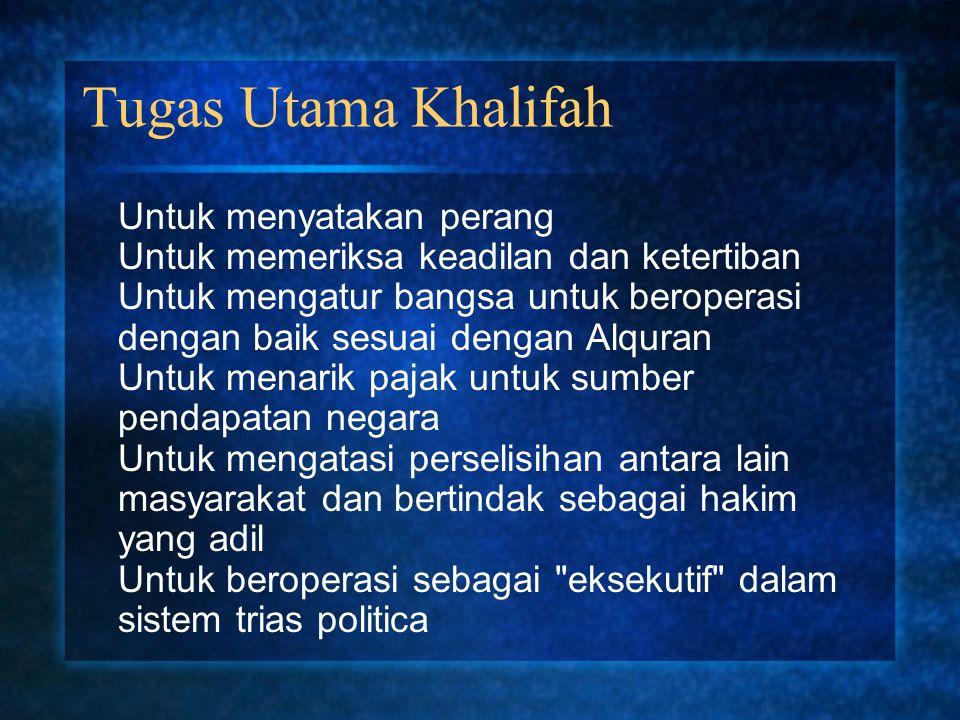 Tugas Utama Khalifah