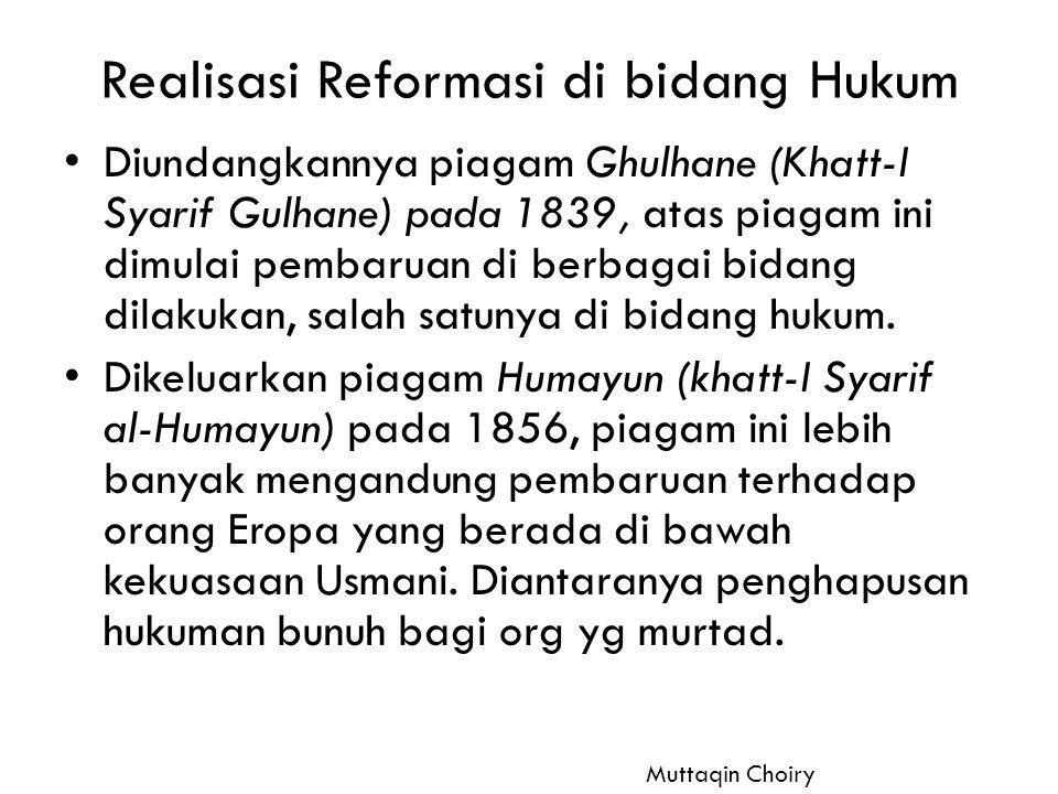 Realisasi Reformasi di bidang Hukum