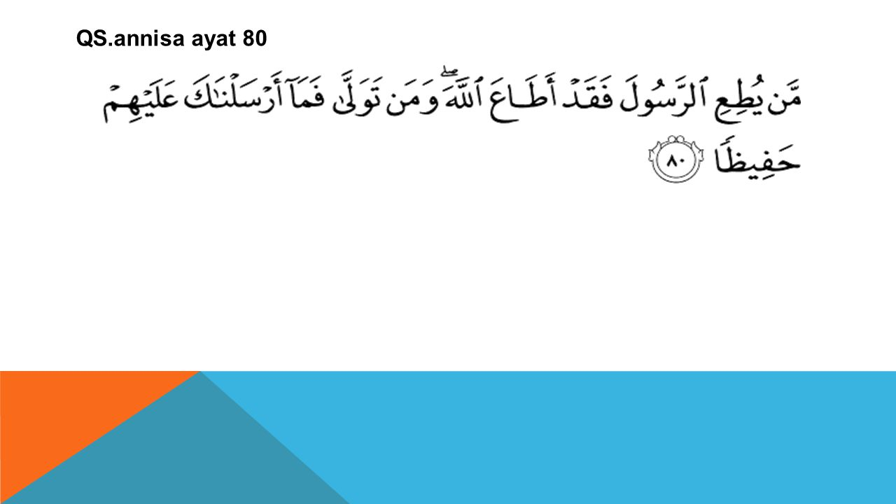 QS.annisa ayat 80