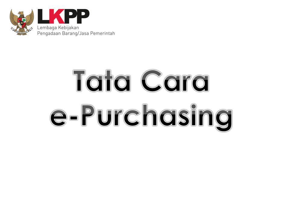 Tata Cara e-Purchasing