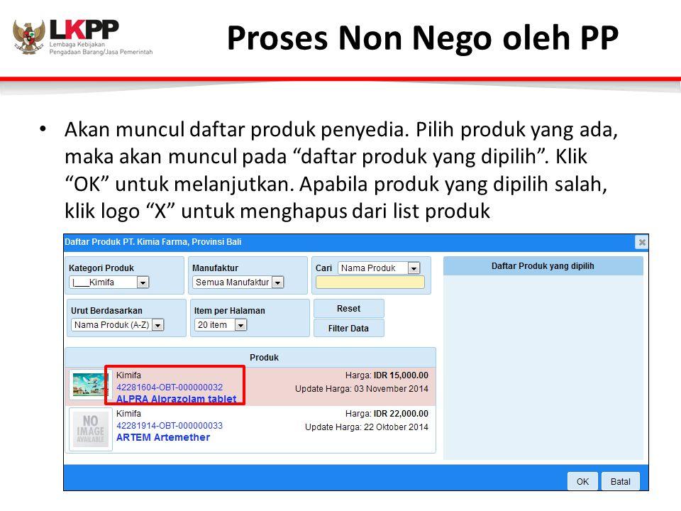 Proses Non Nego oleh PP