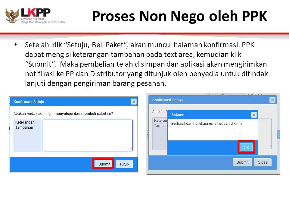 Proses Non Nego oleh PPK