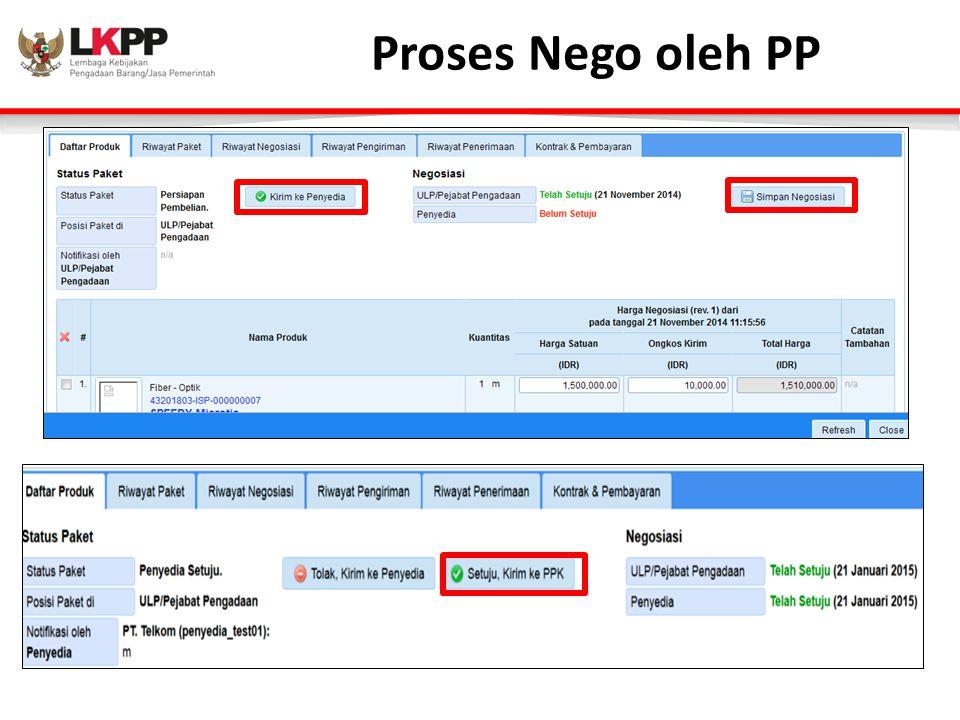 Proses Nego oleh PP