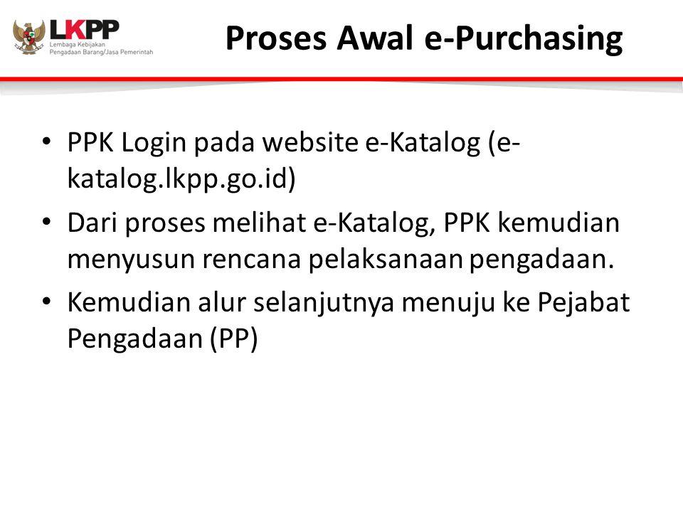 Proses Awal e-Purchasing