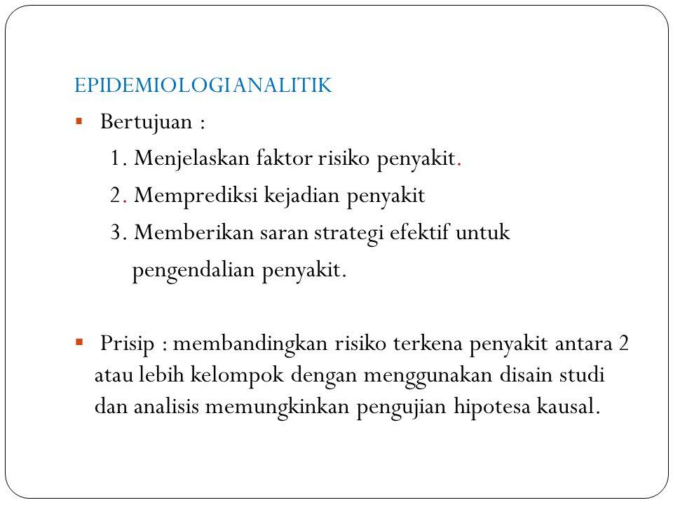 1. Menjelaskan faktor risiko penyakit.