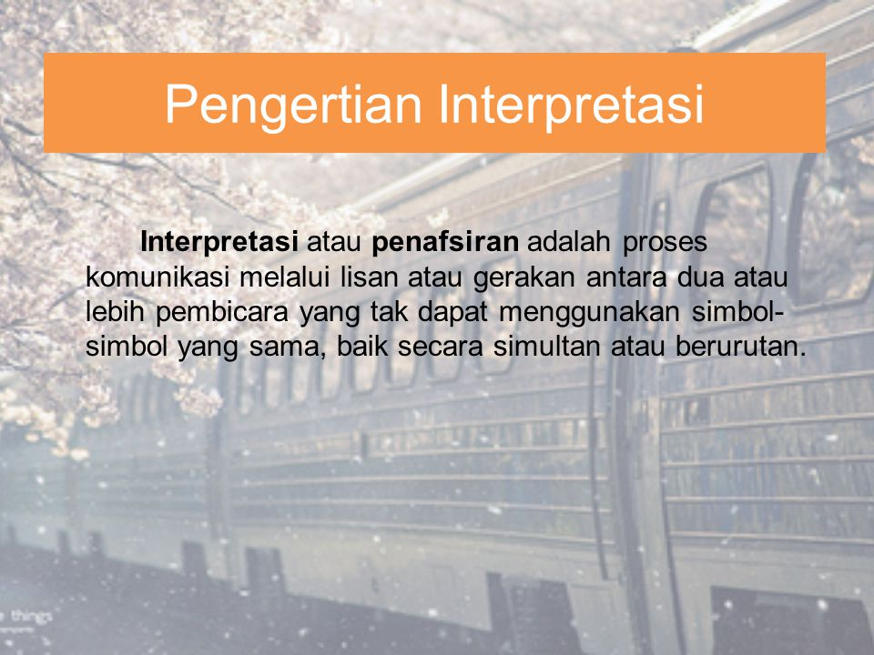 Pengertian Interpretasi