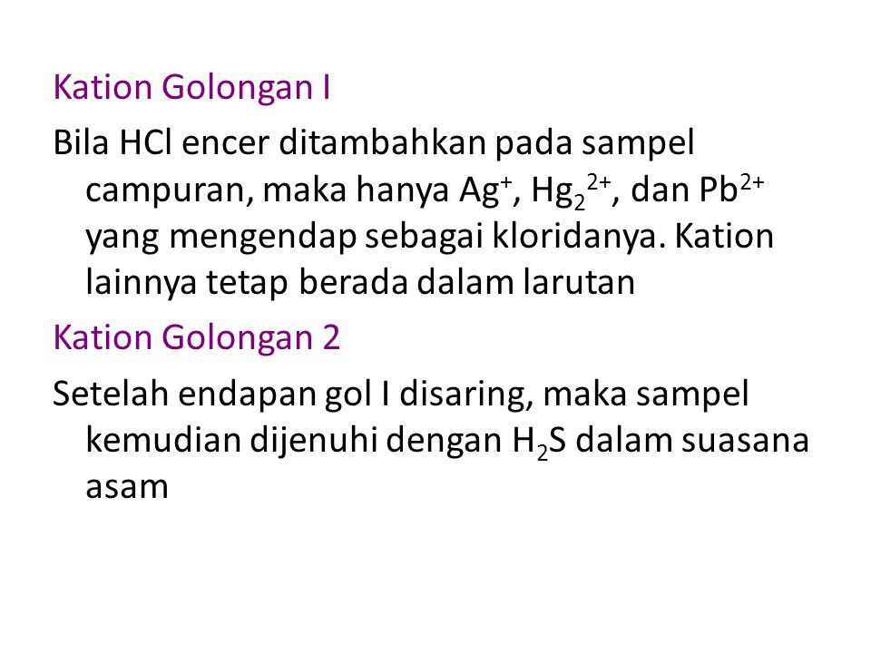 Kation Golongan I