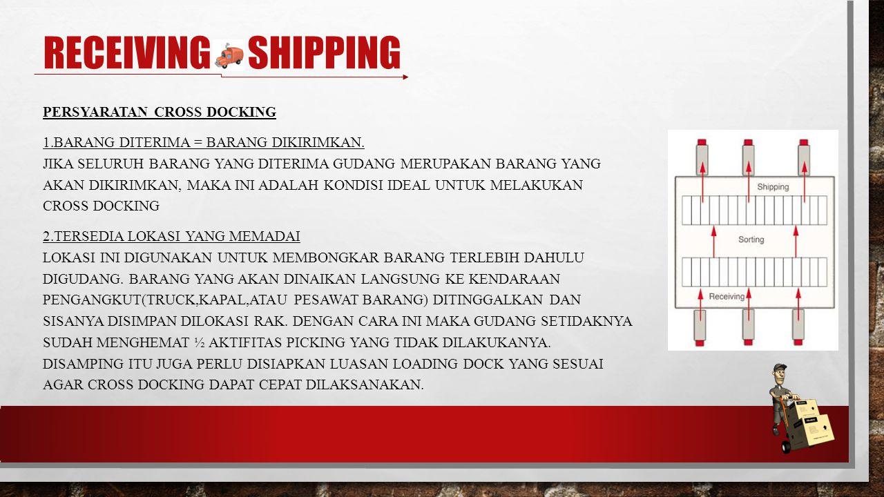 Receiving & shipping