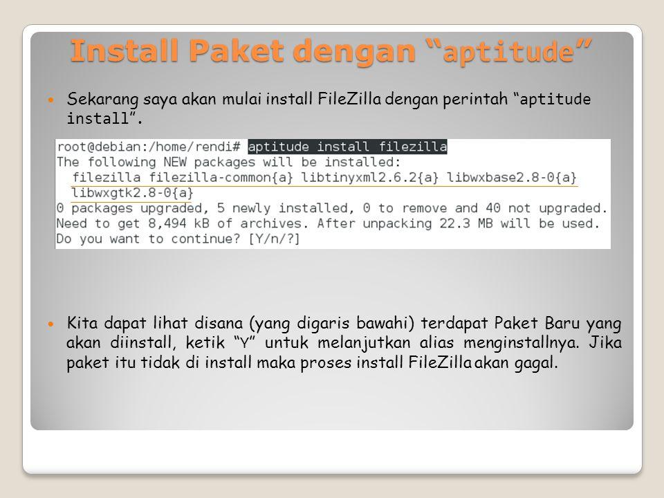 Install Paket dengan aptitude