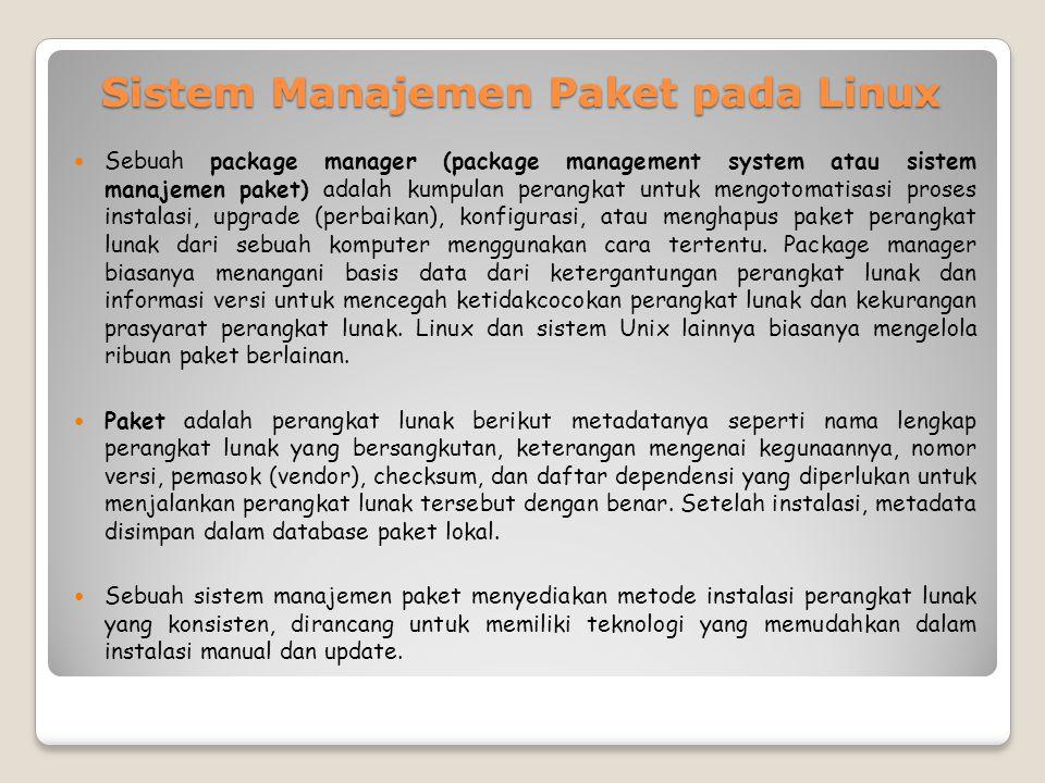 Sistem Manajemen Paket pada Linux
