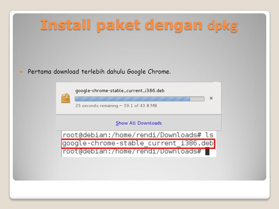 Install paket dengan dpkg