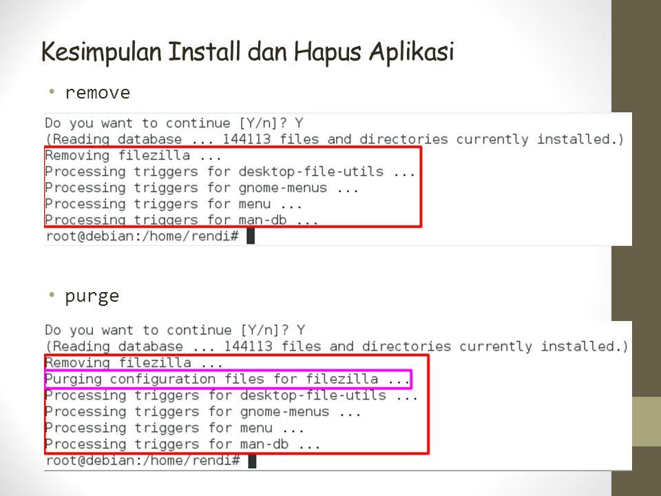 Kesimpulan Install dan Hapus Aplikasi