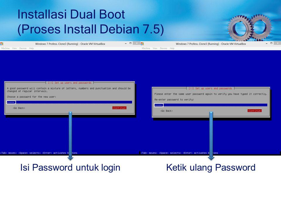 Installasi Dual Boot (Proses Install Debian 7.5)