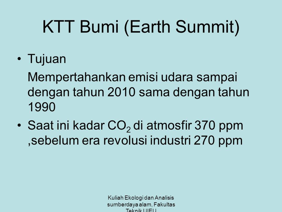 KTT Bumi (Earth Summit)