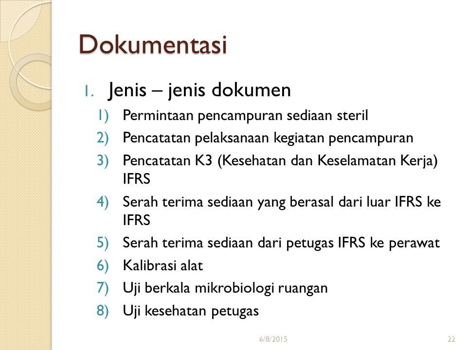 Dokumentasi Jenis – jenis dokumen