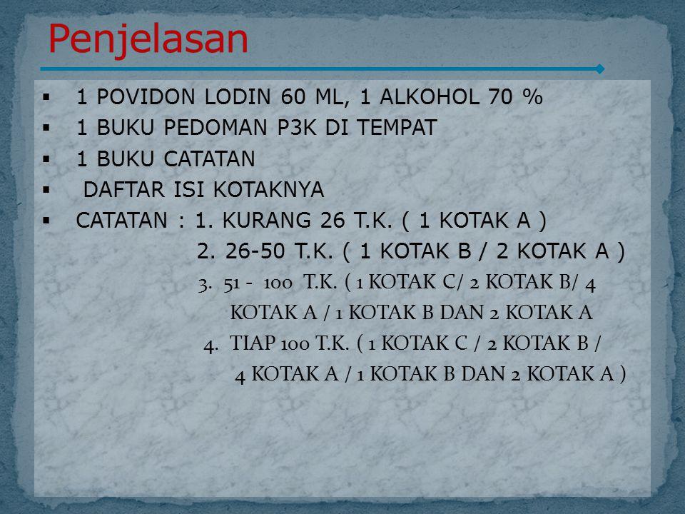 Penjelasan 1 POVIDON LODIN 60 ML, 1 ALKOHOL 70 %