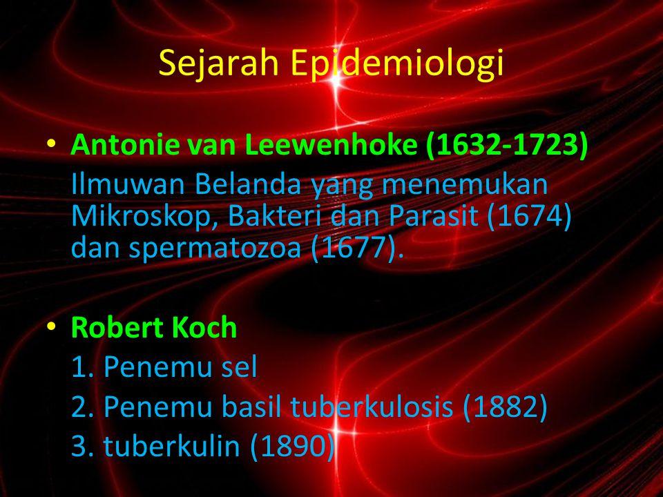 Sejarah Epidemiologi Antonie van Leewenhoke (1632-1723)