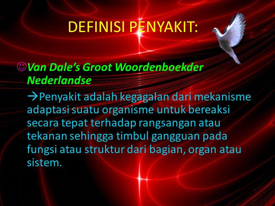 DEFINISI PENYAKIT: Van Dale's Groot Woordenboekder Nederlandse