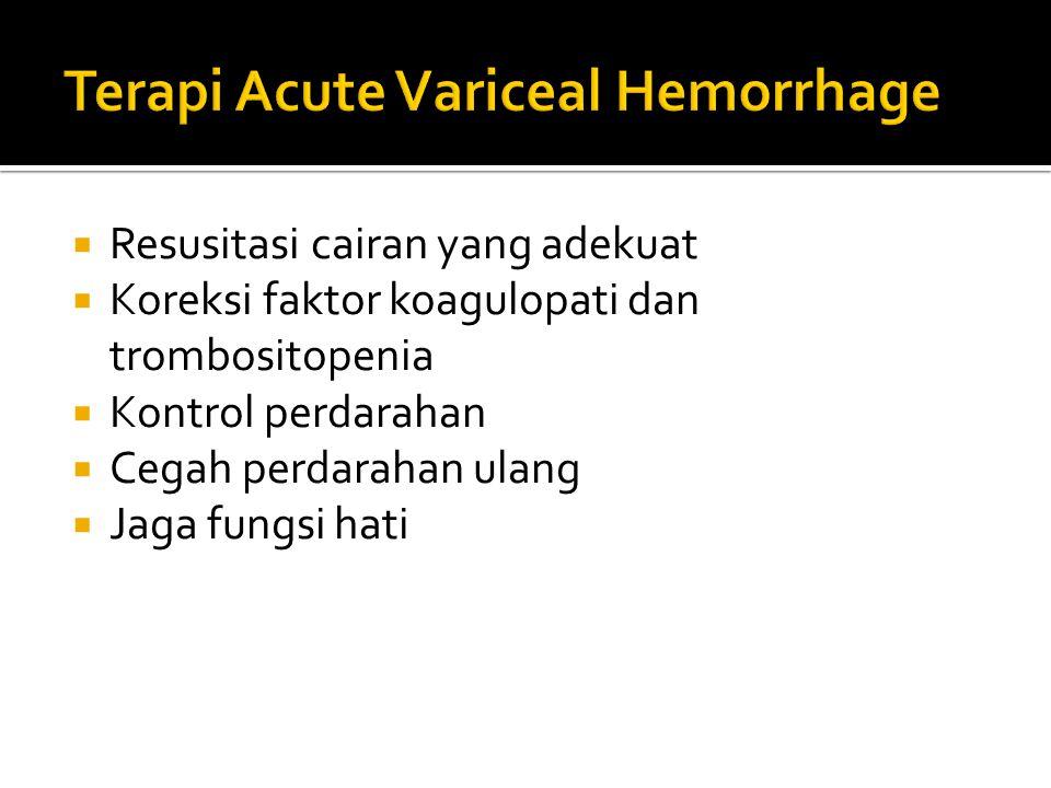 Terapi Acute Variceal Hemorrhage