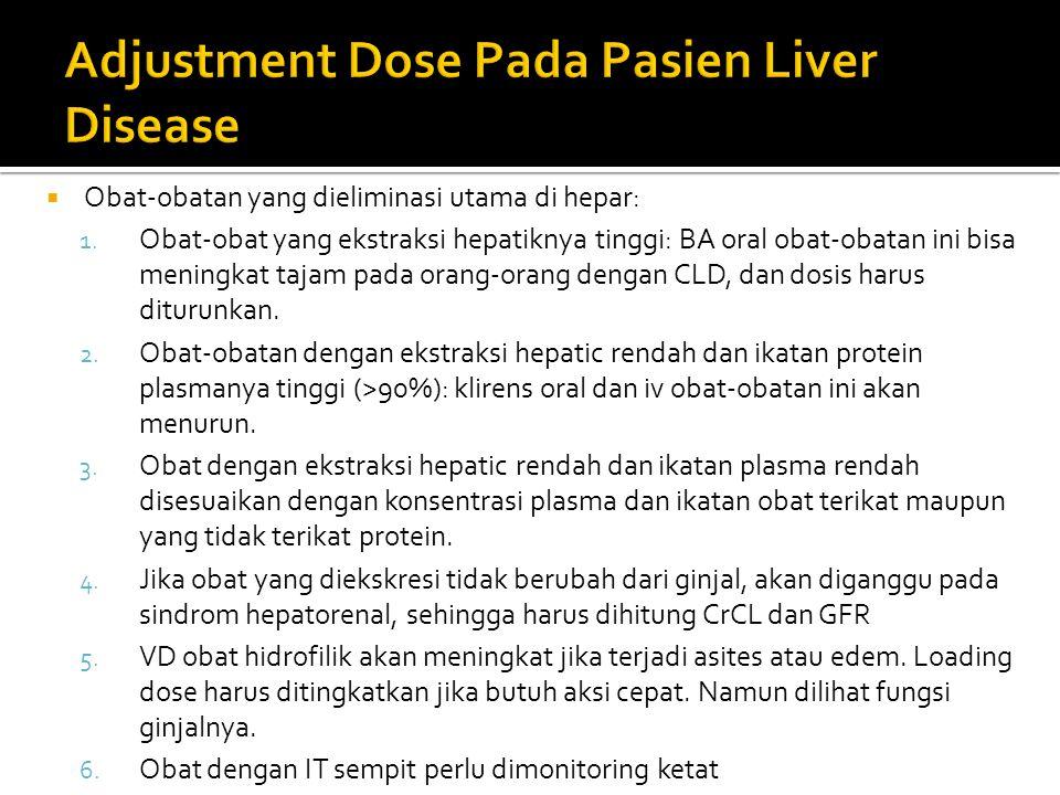 Adjustment Dose Pada Pasien Liver Disease