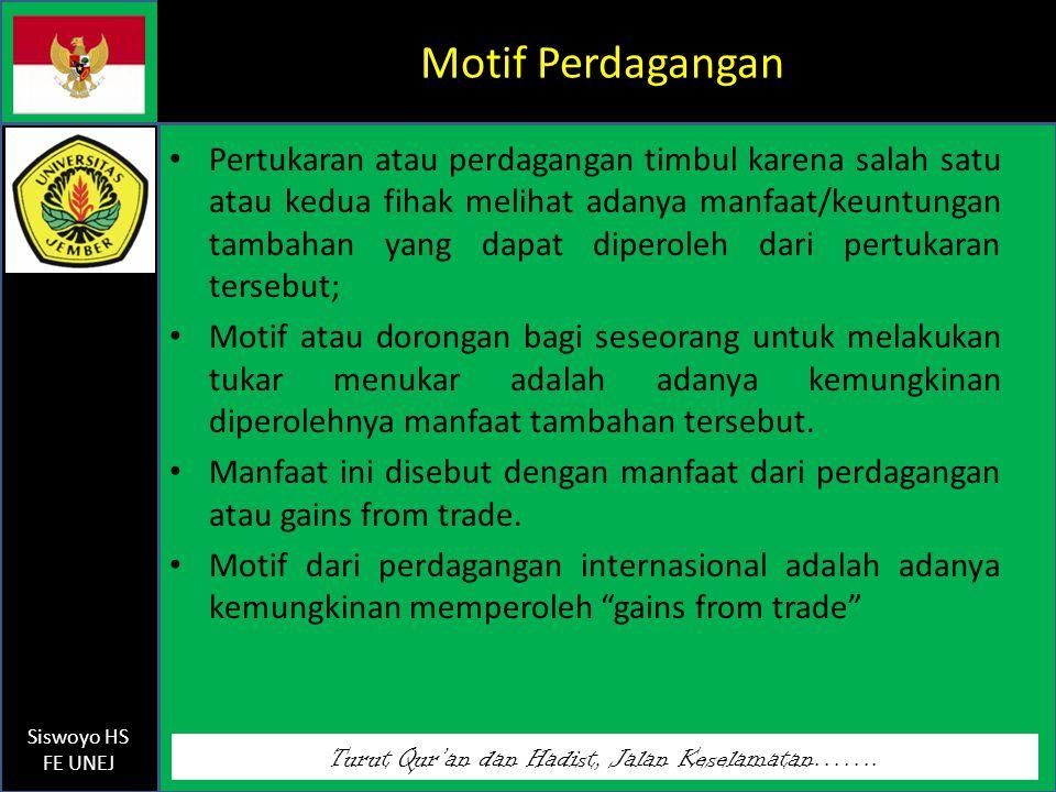Motif Perdagangan