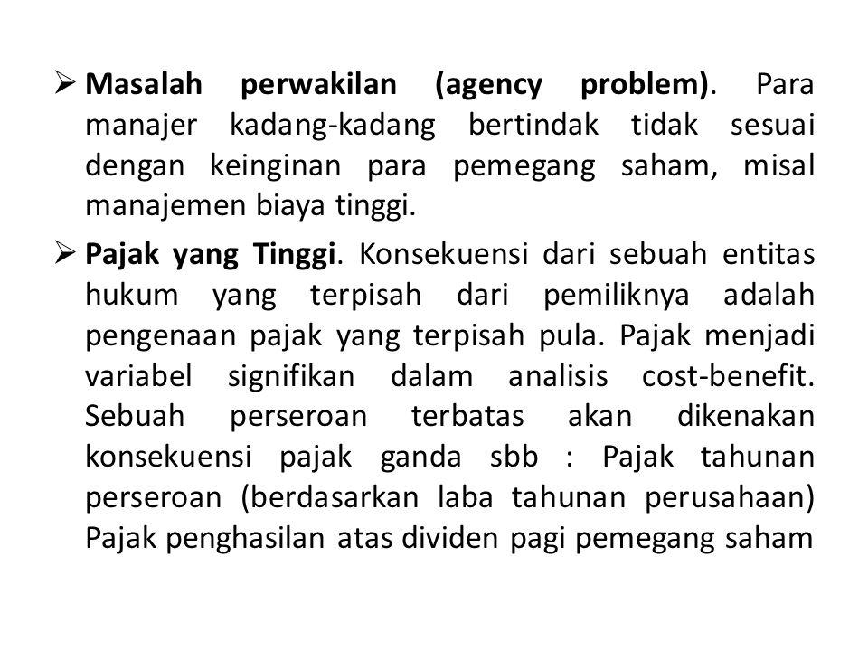 Masalah perwakilan (agency problem)