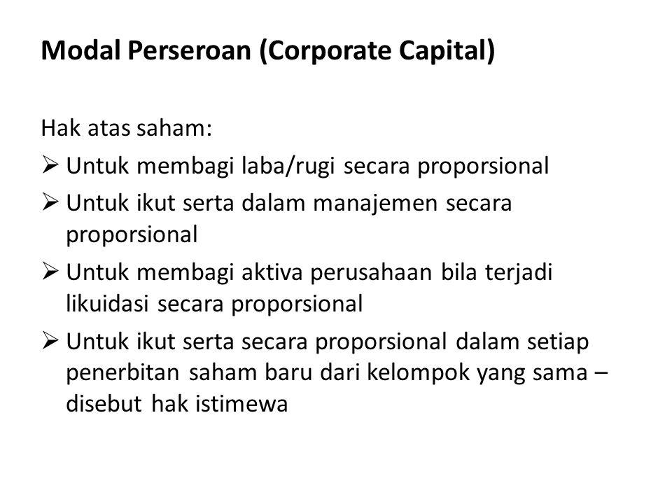 Modal Perseroan (Corporate Capital)