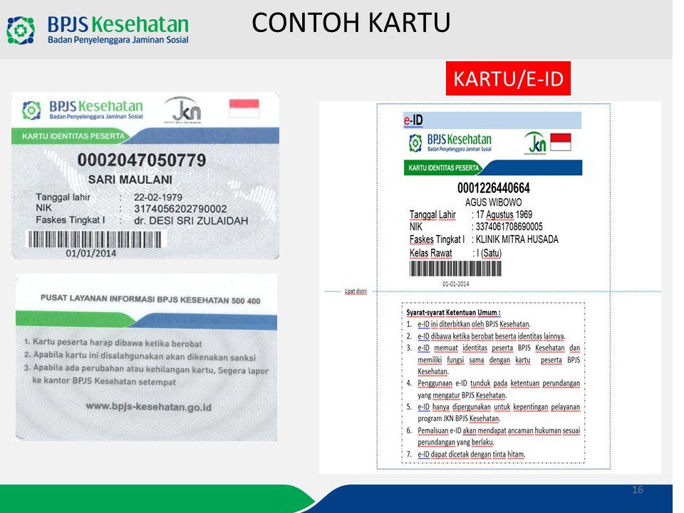 CONTOH KARTU KARTU/E-ID