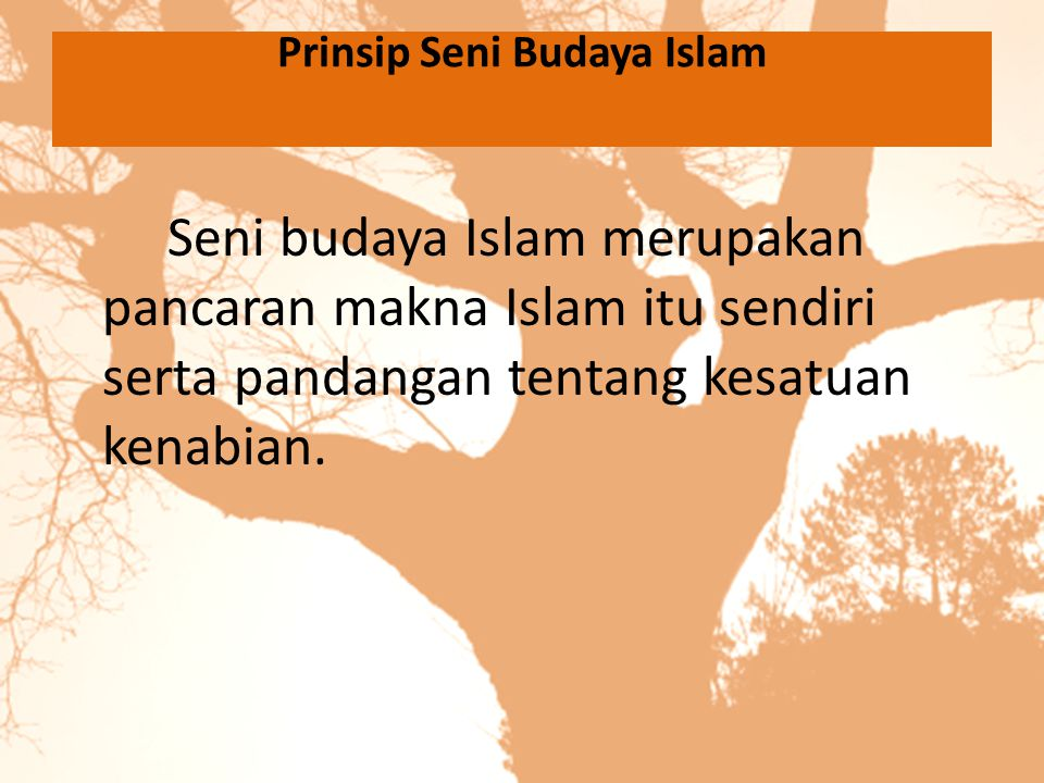 Prinsip Seni Budaya Islam