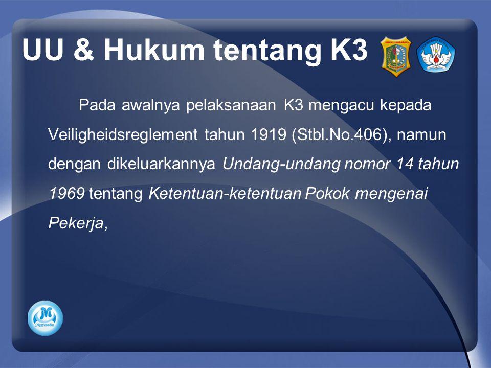 UU & Hukum tentang K3