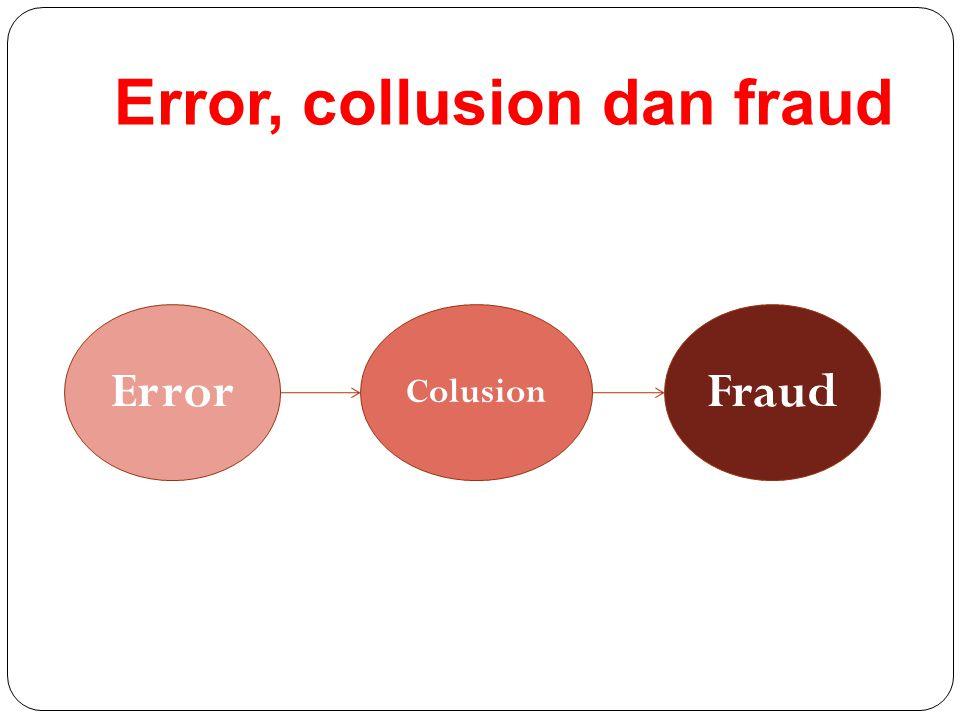 Error, collusion dan fraud