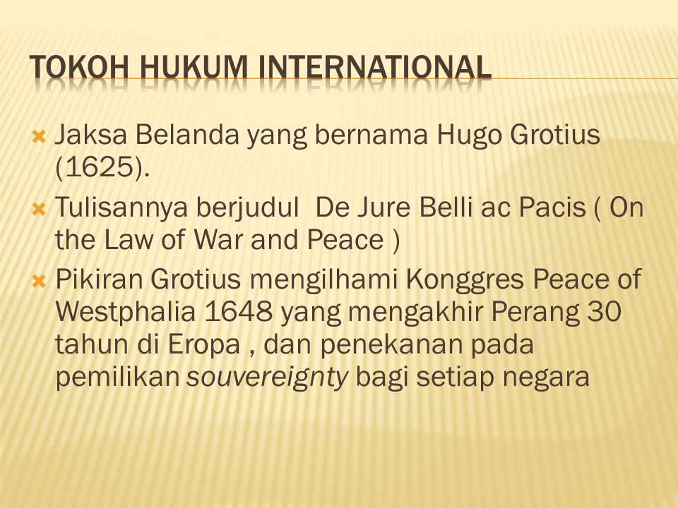 Tokoh Hukum International