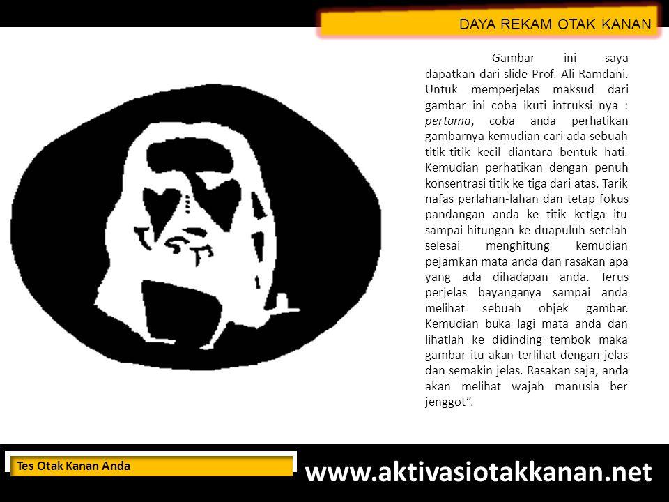 www.aktivasiotakkanan.net DAYA REKAM OTAK KANAN