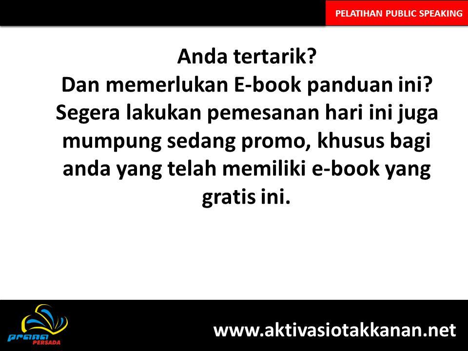 Dan memerlukan E-book panduan ini