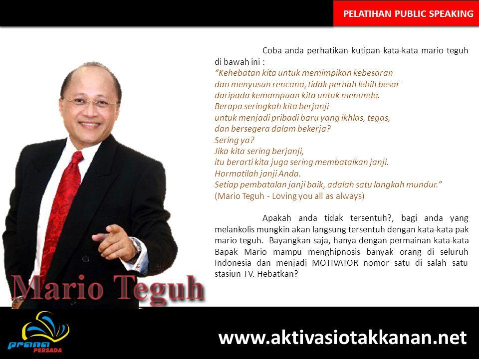 www.aktivasiotakkanan.net PELATIHAN PUBLIC SPEAKING