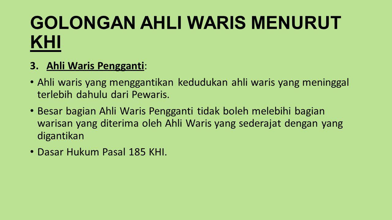 GOLONGAN AHLI WARIS MENURUT KHI