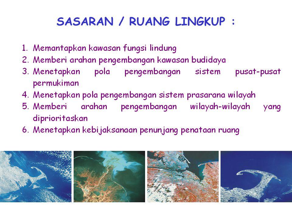 SASARAN / RUANG LINGKUP :