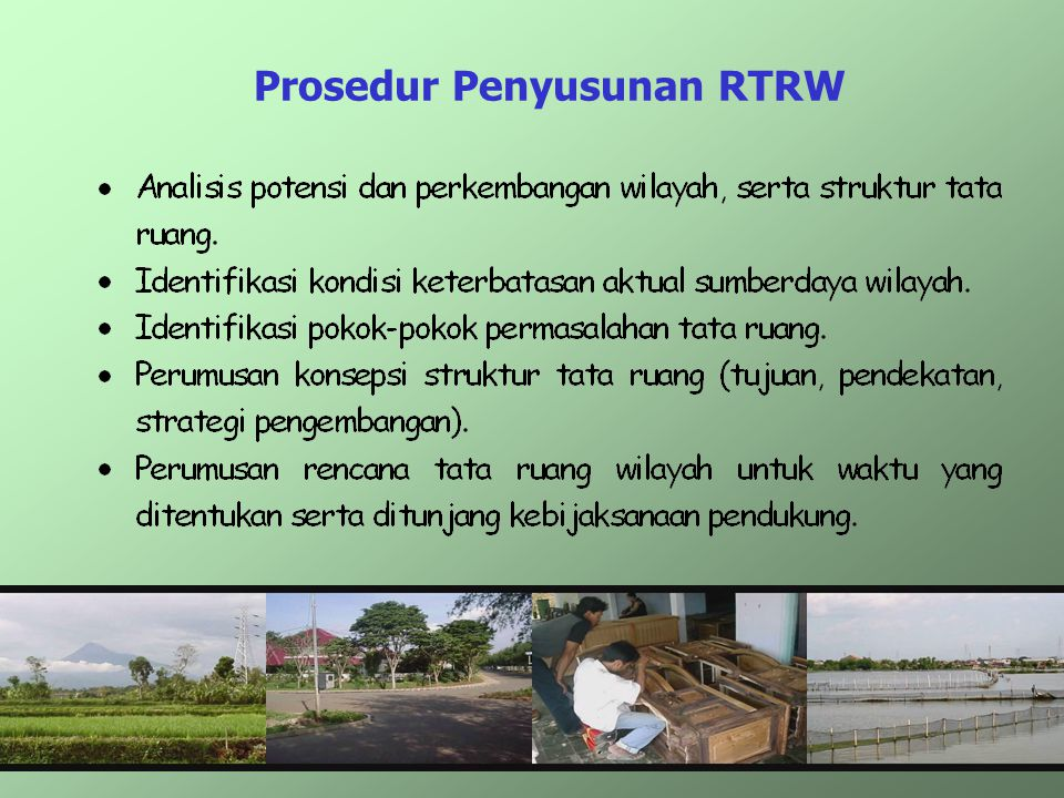 Prosedur Penyusunan RTRW