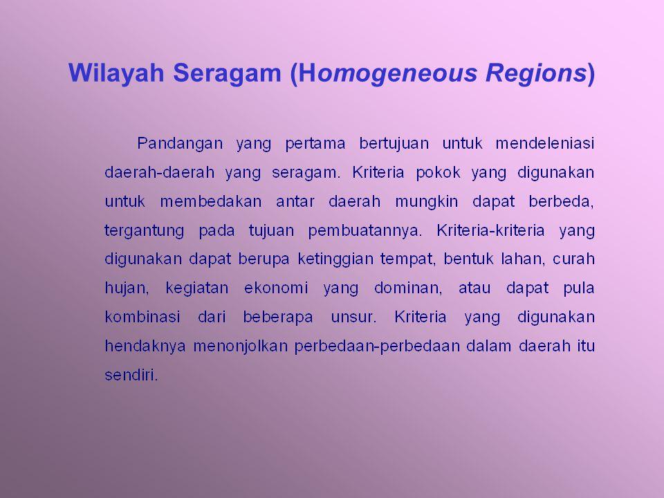 Wilayah Seragam (Homogeneous Regions)