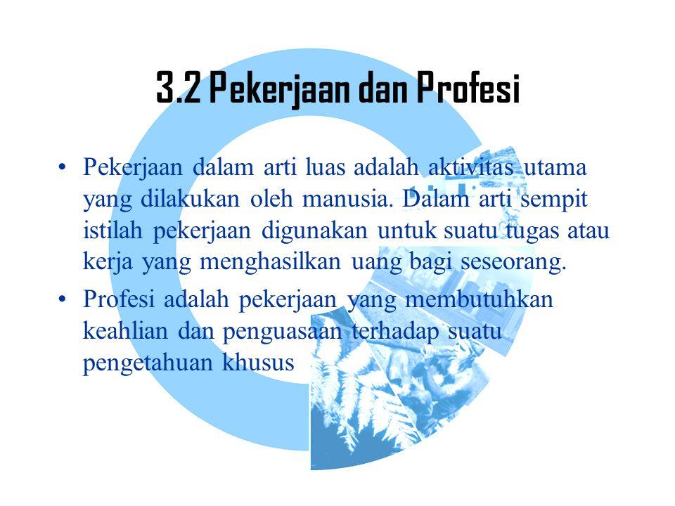 3.2 Pekerjaan dan Profesi