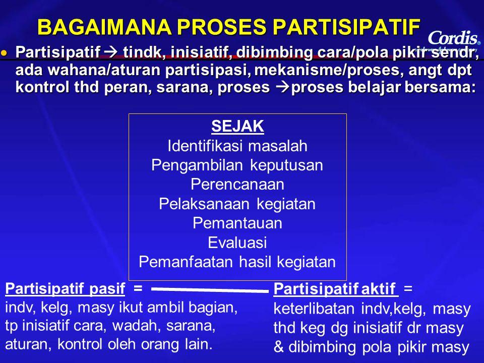 BAGAIMANA PROSES PARTISIPATIF