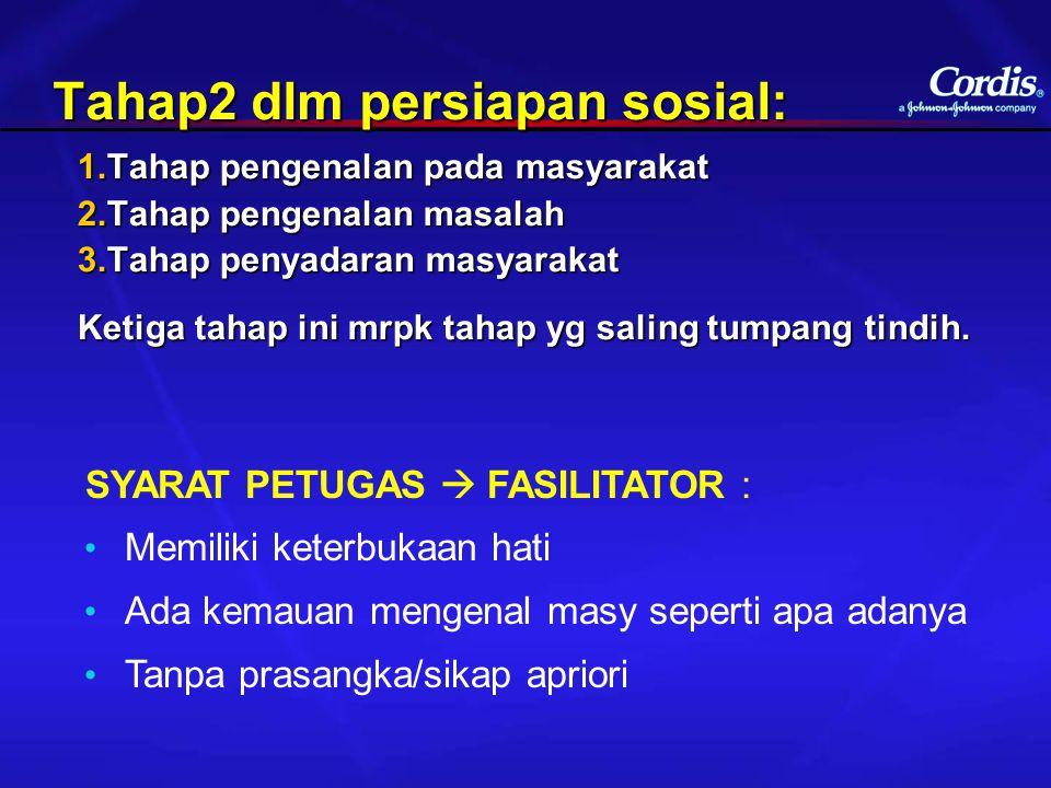 Tahap2 dlm persiapan sosial: