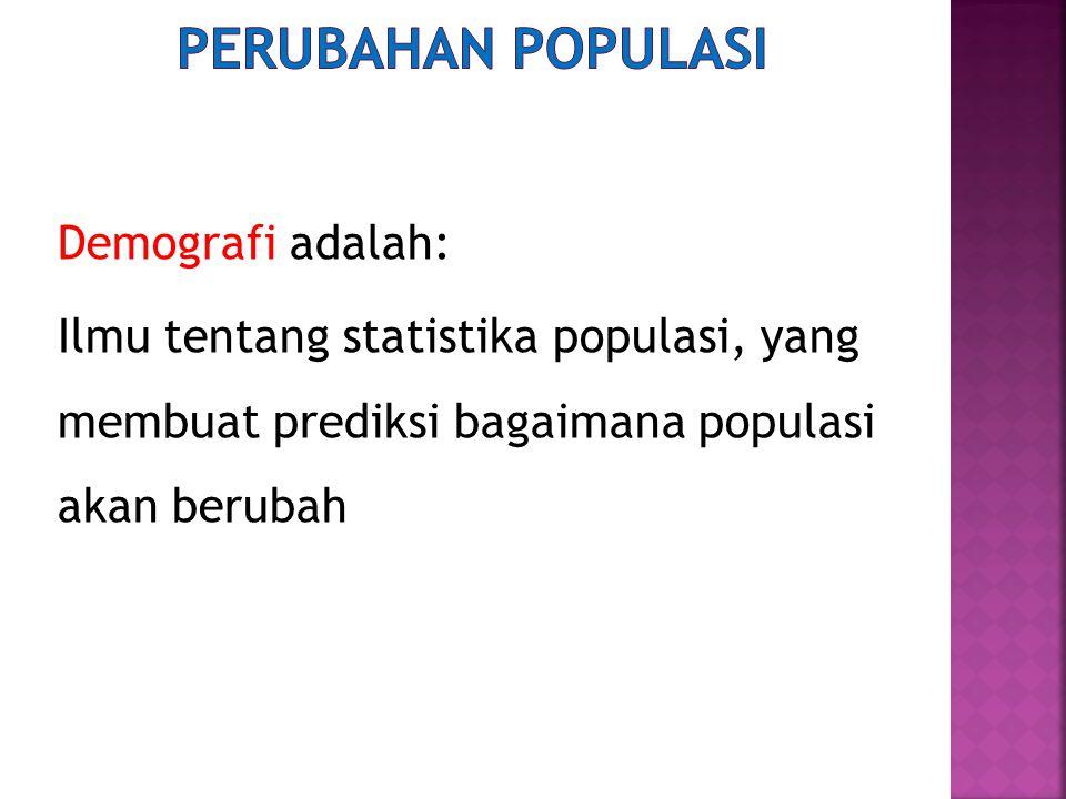 Perubahan populasi Demografi adalah: