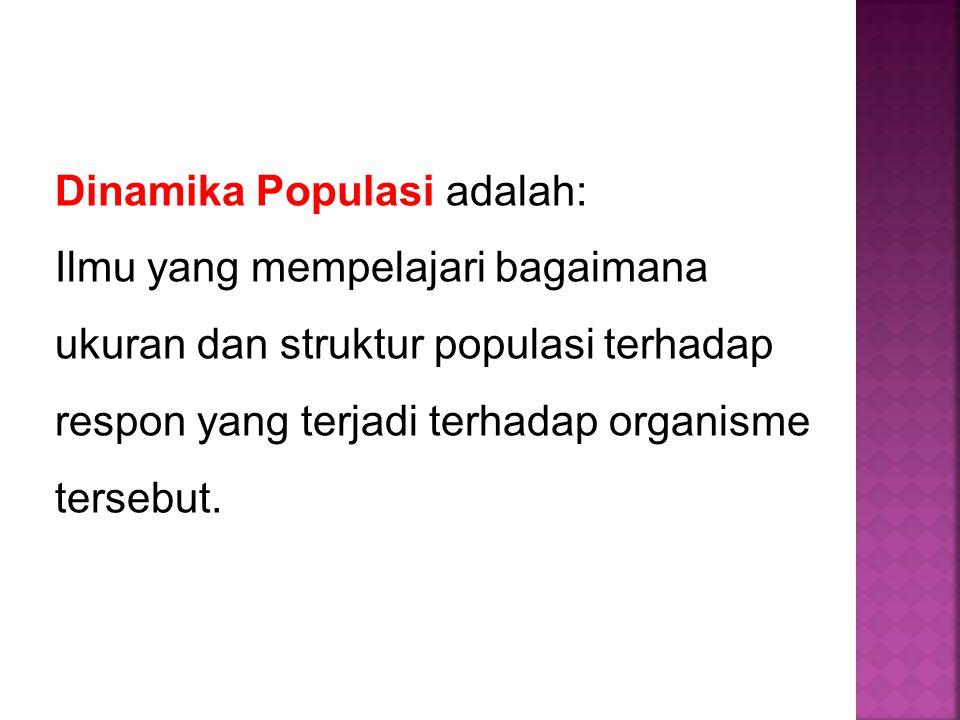 Dinamika Populasi adalah: