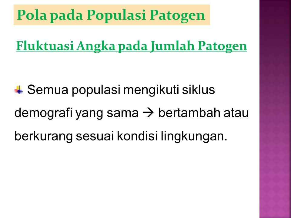 Pola pada Populasi Patogen