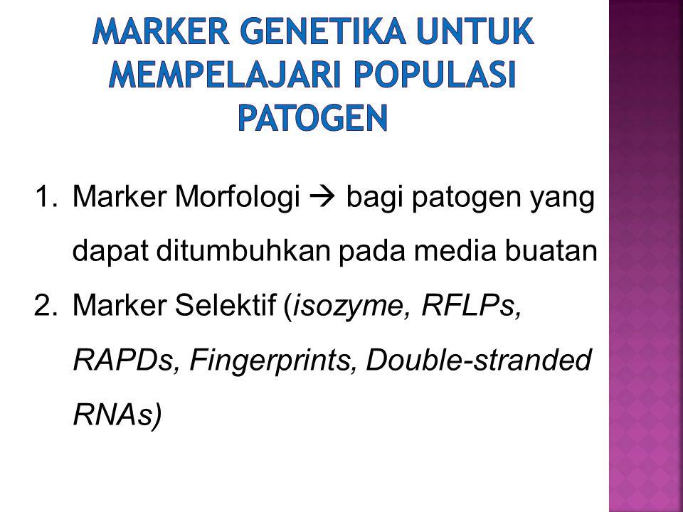 Marker genetika untuk mempelajari populasi patogen
