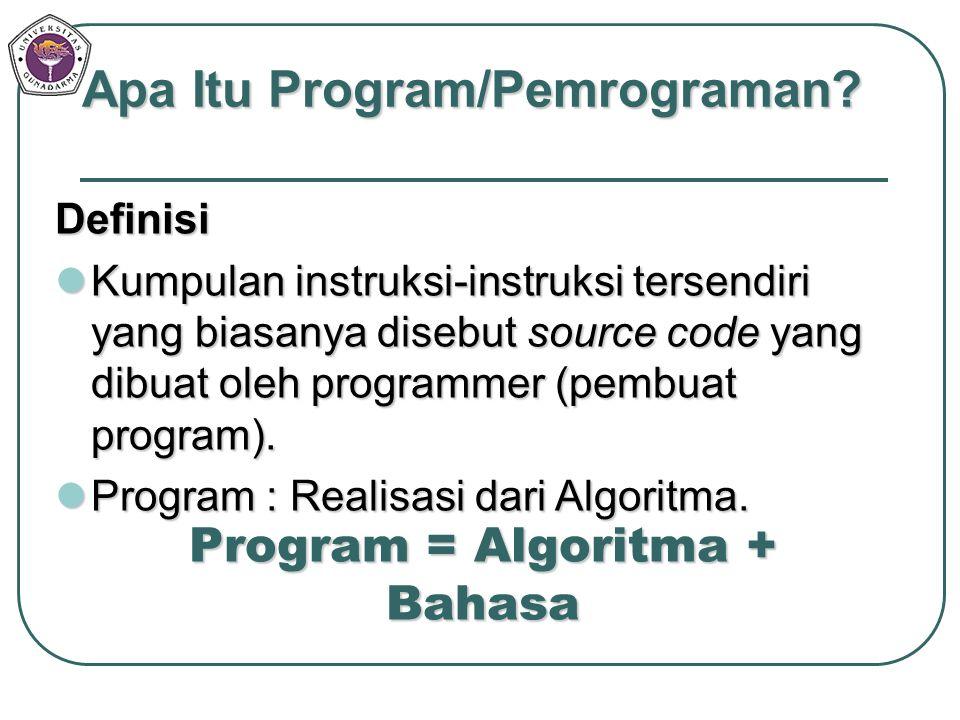 Program = Algoritma + Bahasa